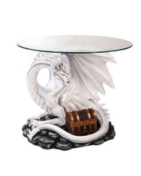 Dragon Treasure Glass Top Accent Table Mystic Convergence Metaphysical Supplies Metaphysical Supplies, Pagan Jewelry, Witchcraft Supply, New Age Spiritual Store