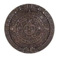 Aztec Solar Calendar Wall Relief Bronze Plaque