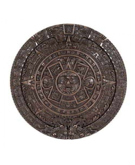 Aztec Solar Calendar Wall Relief Bronze Plaque at Mystic Convergence Metaphysical Supplies, Metaphysical Supplies, Pagan Jewelry, Witchcraft Supply, New Age Spiritual Store