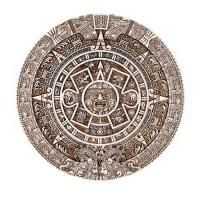 Aztec Solar Calendar Wall Relief Plaque