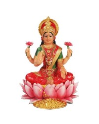 Lakshmi Hindu Goddess Seated on Lotus Statue Mystic Convergence Metaphysical Supplies Metaphysical Supplies, Pagan Jewelry, Witchcraft Supply, New Age Spiritual Store