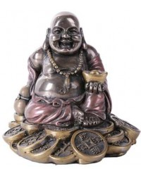 Good Fortune Buddha Bronze Resin Statue Mystic Convergence Metaphysical Supplies Metaphysical Supplies, Pagan Jewelry, Witchcraft Supply, New Age Spiritual Store