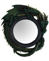 Green Dragon Wall Mirror Mystic Convergence Metaphysical Supplies Metaphysical Supplies, Pagan Jewelry, Witchcraft Supply, New Age Spiritual Store