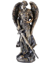 Archangel Jehudiel Small Bronze Christian Statue Mystic Convergence Metaphysical Supplies Metaphysical Supplies, Pagan Jewelry, Witchcraft Supply, New Age Spiritual Store
