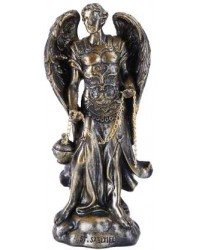 Archangel Saeltiel Small Bronze Christian Statue Mystic Convergence Metaphysical Supplies Metaphysical Supplies, Pagan Jewelry, Witchcraft Supply, New Age Spiritual Store