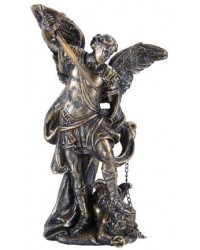 Archangel Michael Small Bronze Christian Statue Mystic Convergence Metaphysical Supplies Metaphysical Supplies, Pagan Jewelry, Witchcraft Supply, New Age Spiritual Store