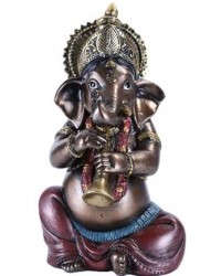 Ganesha with Horn Small Bronze Resin Statue Mystic Convergence Metaphysical Supplies Metaphysical Supplies, Pagan Jewelry, Witchcraft Supply, New Age Spiritual Store