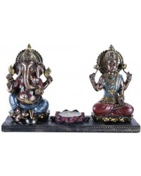 Ganesha and Krishna Candle Holder Mystic Convergence Wiccan Supplies, Pagan Jewelry, Witchcraft Supplies, New Age Store