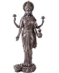 Lakshmi Hindu Goddess of Luck and Wealth Bronze Resin Statue Mystic Convergence Metaphysical Supplies Metaphysical Supplies, Pagan Jewelry, Witchcraft Supply, New Age Spiritual Store