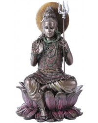Lord Shiva Seated Bronze Resin Hindu God Statue Mystic Convergence Metaphysical Supplies Metaphysical Supplies, Pagan Jewelry, Witchcraft Supply, New Age Spiritual Store