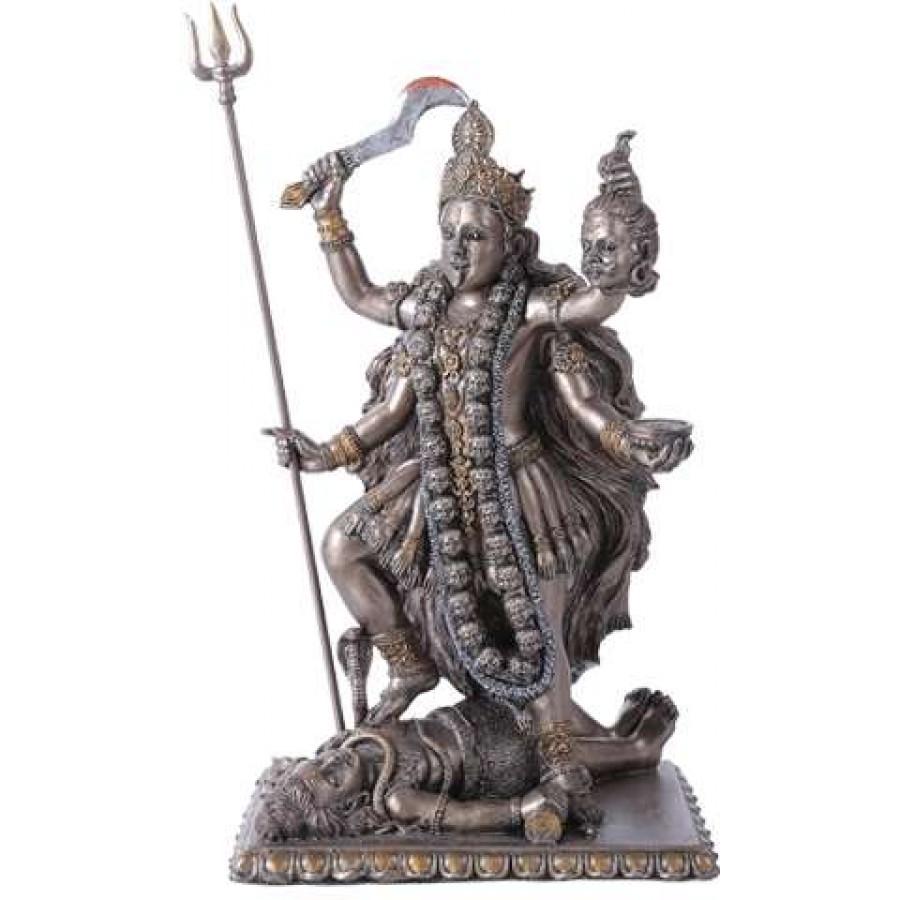 Kali Bronze Resin Hindu Goddess of Destruction Statue