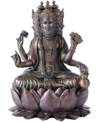 Brahma Bronze Resin Hindu God Statue Mystic Convergence Metaphysical Supplies Metaphysical Supplies, Pagan Jewelry, Witchcraft Supply, New Age Spiritual Store