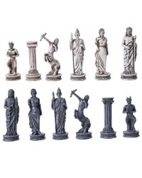 Greek Mythology Gods Chess Set with Glass Board Mystic Convergence Metaphysical Supplies Metaphysical Supplies, Pagan Jewelry, Witchcraft Supply, New Age Spiritual Store