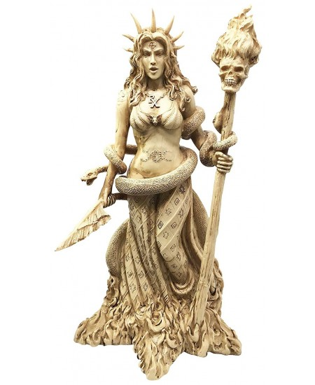 Hecate Greek Goddess of the Underworld Resin Statue at Mystic Convergence Metaphysical Supplies, Metaphysical Supplies, Pagan Jewelry, Witchcraft Supply, New Age Spiritual Store