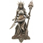 Hecate Greek Goddess of the Underworld Bronze Resin Statue at Mystic Convergence Metaphysical Supplies, Metaphysical Supplies, Pagan Jewelry, Witchcraft Supply, New Age Spiritual Store