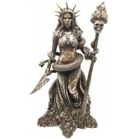 Hecate Greek Goddess of the Underworld Bronze Resin Statue