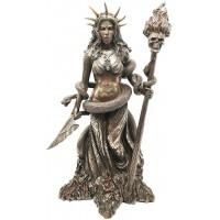 Hecate Greek Goddess of the Underworld Bronze Resin Statue
