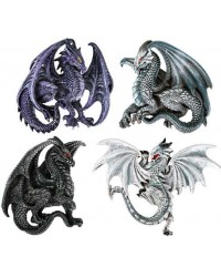 Winged Dragon Magnets Set of 4 Mystic Convergence Metaphysical Supplies Metaphysical Supplies, Pagan Jewelry, Witchcraft Supply, New Age Spiritual Store