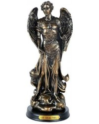 Archangel St Sealtiel Bronze Resin Christian 8 Inch Statue Mystic Convergence Metaphysical Supplies Metaphysical Supplies, Pagan Jewelry, Witchcraft Supply, New Age Spiritual Store