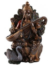 Saraswati Hindu Goddess 8 Inch Statue Mystic Convergence Metaphysical Supplies Metaphysical Supplies, Pagan Jewelry, Witchcraft Supply, New Age Spiritual Store