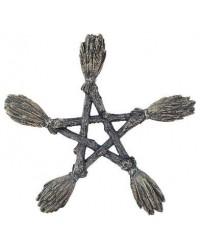 Witches Broom Pentagram Wall Plaque Mystic Convergence Metaphysical Supplies Metaphysical Supplies, Pagan Jewelry, Witchcraft Supply, New Age Spiritual Store
