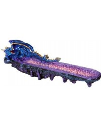 Geode Dragon Incense Burner Mystic Convergence Metaphysical Supplies Metaphysical Supplies, Pagan Jewelry, Witchcraft Supply, New Age Spiritual Store