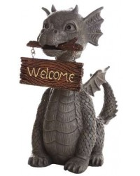 Welcoming Garden Dragon Statue Mystic Convergence Metaphysical Supplies Metaphysical Supplies, Pagan Jewelry, Witchcraft Supply, New Age Spiritual Store