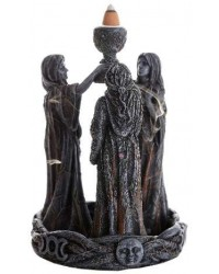Mother, Maiden, Crone Triple Goddess Backflow Incense Burner Mystic Convergence Metaphysical Supplies Metaphysical Supplies, Pagan Jewelry, Witchcraft Supply, New Age Spiritual Store