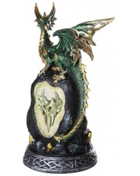 Green Dragon on Rock LED Night Light Mystic Convergence Metaphysical Supplies Metaphysical Supplies, Pagan Jewelry, Witchcraft Supply, New Age Spiritual Store