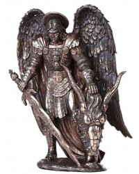 Archangel St Michael Large Bronze Statue Mystic Convergence Metaphysical Supplies Metaphysical Supplies, Pagan Jewelry, Witchcraft Supply, New Age Spiritual Store