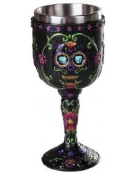 Day of the Dead Sugar Skull Goblet