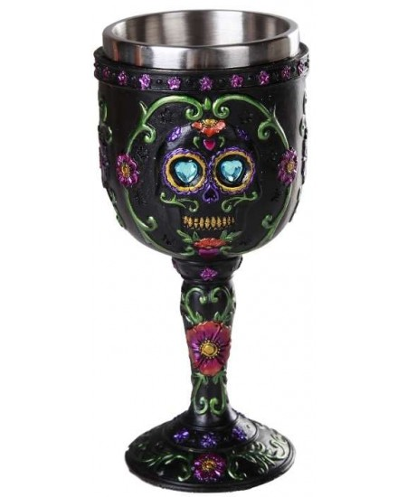Day of the Dead Sugar Skull Goblet at Mystic Convergence, Wiccan Supplies, Pagan Jewelry, Witchcraft Supplies, New Age Store