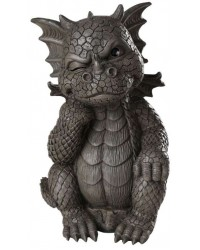 Thinker Dragon Garden Statue Mystic Convergence Metaphysical Supplies Metaphysical Supplies, Pagan Jewelry, Witchcraft Supply, New Age Spiritual Store