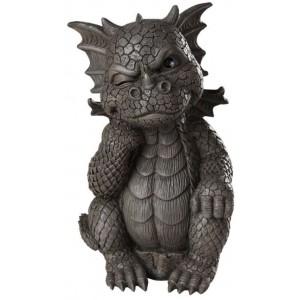 Thinker Dragon Garden Statue