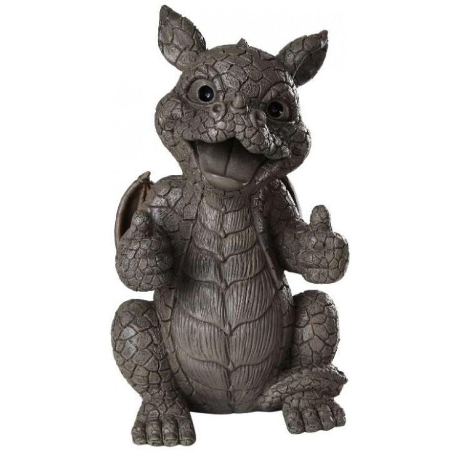 Thumbs Up Dragon Garden Statue ...