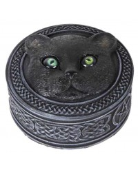 Black Cat Trinket Box with Rolling Eyes Mystic Convergence Metaphysical Supplies Metaphysical Supplies, Pagan Jewelry, Witchcraft Supply, New Age Spiritual Store