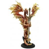Flame Blade Dragon Desk Top Letter Opener