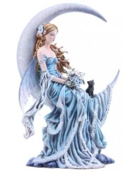 Wind Moon Fairy by Nene Thomas Statue Mystic Convergence Metaphysical Supplies Metaphysical Supplies, Pagan Jewelry, Witchcraft Supply, New Age Spiritual Store