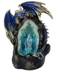 Lighted Geode Guardian Dragon Statue Mystic Convergence Metaphysical Supplies Metaphysical Supplies, Pagan Jewelry, Witchcraft Supply, New Age Spiritual Store