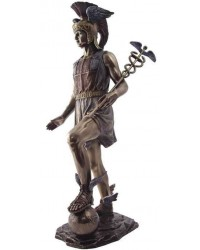 Hermes, Messenger of the Gods Bronze Statue Mystic Convergence Metaphysical Supplies Metaphysical Supplies, Pagan Jewelry, Witchcraft Supply, New Age Spiritual Store