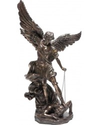 Archangel St Michael 47 Inch Bronze Resin Statue Mystic Convergence Metaphysical Supplies Metaphysical Supplies, Pagan Jewelry, Witchcraft Supply, New Age Spiritual Store