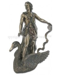 Apollo Greek God of Light on Swan Bronze Statue Mystic Convergence Metaphysical Supplies Metaphysical Supplies, Pagan Jewelry, Witchcraft Supply, New Age Spiritual Store