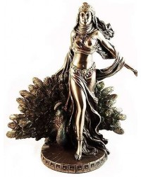 Hera Queen of the Greek Gods Statue with Peacock Mystic Convergence Metaphysical Supplies Metaphysical Supplies, Pagan Jewelry, Witchcraft Supply, New Age Spiritual Store