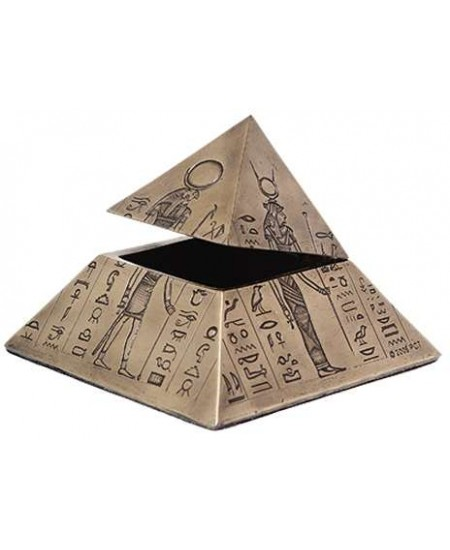 Pyramid of the Gods Egyptian Bronze Trinket Box at Mystic Convergence Metaphysical Supplies, Metaphysical Supplies, Pagan Jewelry, Witchcraft Supply, New Age Spiritual Store