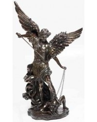 Archangel St Michael 32 Inch Bronze Resin Statue Mystic Convergence Metaphysical Supplies Metaphysical Supplies, Pagan Jewelry, Witchcraft Supply, New Age Spiritual Store