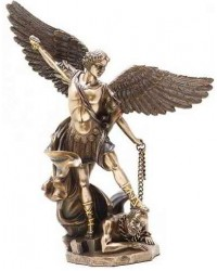Archangel St Michael 10 Inch Bronze and Gold Statue Mystic Convergence Metaphysical Supplies Metaphysical Supplies, Pagan Jewelry, Witchcraft Supply, New Age Spiritual Store