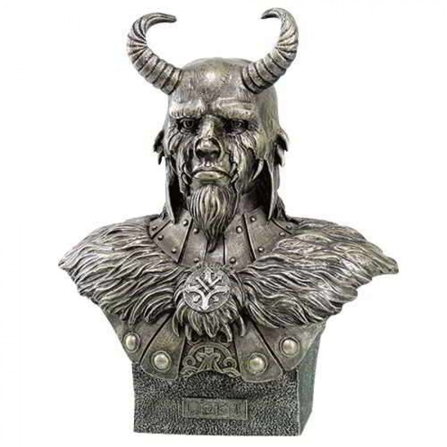 loki norse trickster god statue brother of thor wood finish