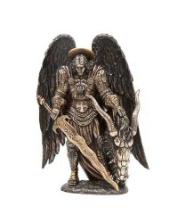 Archangel St Michael Bronze Statue by Derek W Frost Mystic Convergence Metaphysical Supplies Metaphysical Supplies, Pagan Jewelry, Witchcraft Supply, New Age Spiritual Store