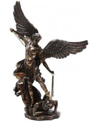 Archangel St Michael Slaying Evil 15 Inch Bronze Statue Mystic Convergence Metaphysical Supplies Metaphysical Supplies, Pagan Jewelry, Witchcraft Supply, New Age Spiritual Store
