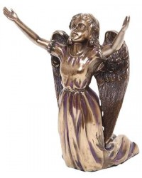 Praising Angel Bronze Resin Statue Mystic Convergence Metaphysical Supplies Metaphysical Supplies, Pagan Jewelry, Witchcraft Supply, New Age Spiritual Store